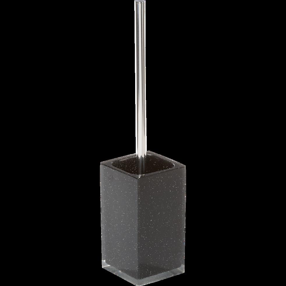 Balai et porte-balai WC noir pailleté-Paillette