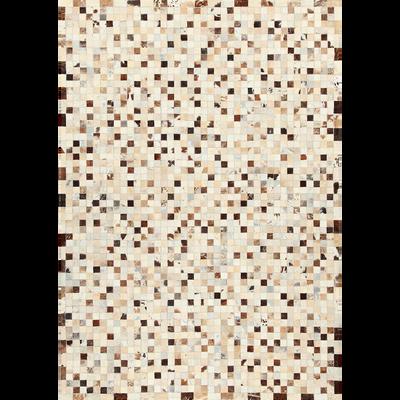 Tapis en cuir gris 200x300cm-LAYAN