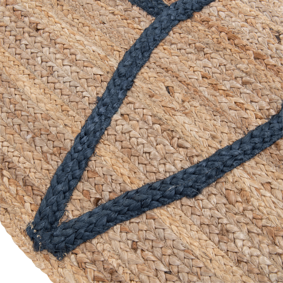 Tapis naturel beige et bleu 160x230cm-NOHA