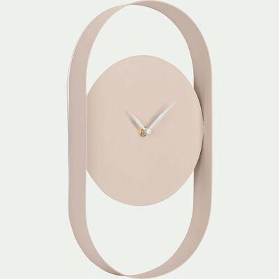 Horloge en métal coloré Rose grège-Chalcis