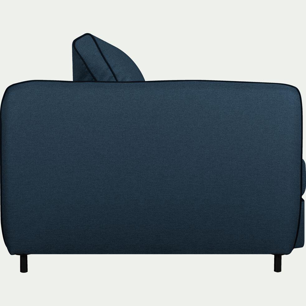 Canapé 3 places convertible en tissu - bleu figuerolles-SAOU