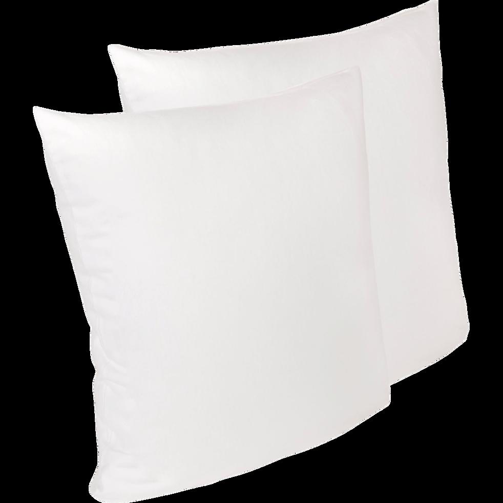 lot de 2 prot ge oreillers en coton 65x65 cm breath 65x65 cm catalogue storefront alin a. Black Bedroom Furniture Sets. Home Design Ideas