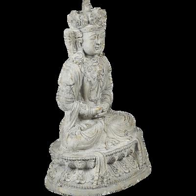 Bouddha assis irisé doré H55xL38xP25cm-BOUDDHA