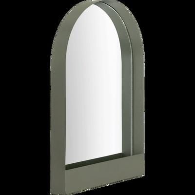 Miroir décoratif en métal vert cèdre-GYALY