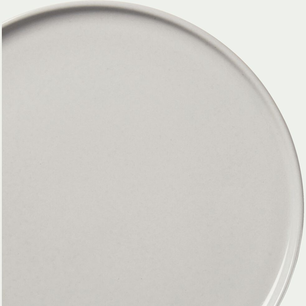 Assiette de présentation en faïence gris borie D30cm-VADIM
