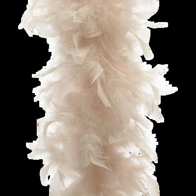 Guirlande de noël en plume rose pâle L180cm-GUIRLANDE