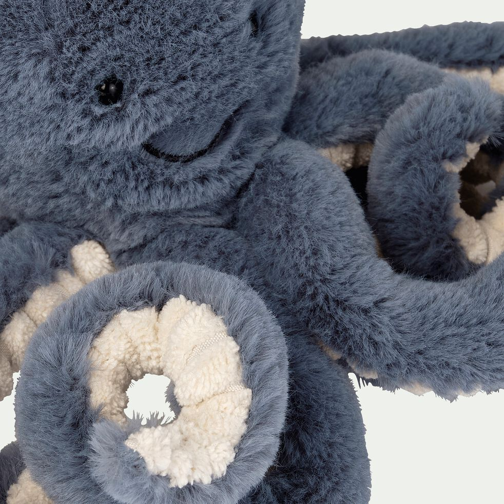 Peluche pieuvre - bleu H23cm-Storm