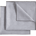 Lot de 2 serviettes de table en lin et coton gris borie 41x41cm-NOLA