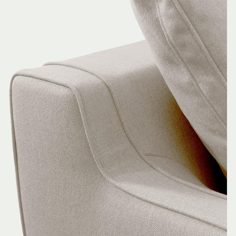 Canapé 1.5 places fixe en tissu - gris borie-LENITA