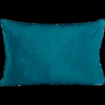 Housse de coussin effet doux bleu figuerolles 40x60cm-ROBIN