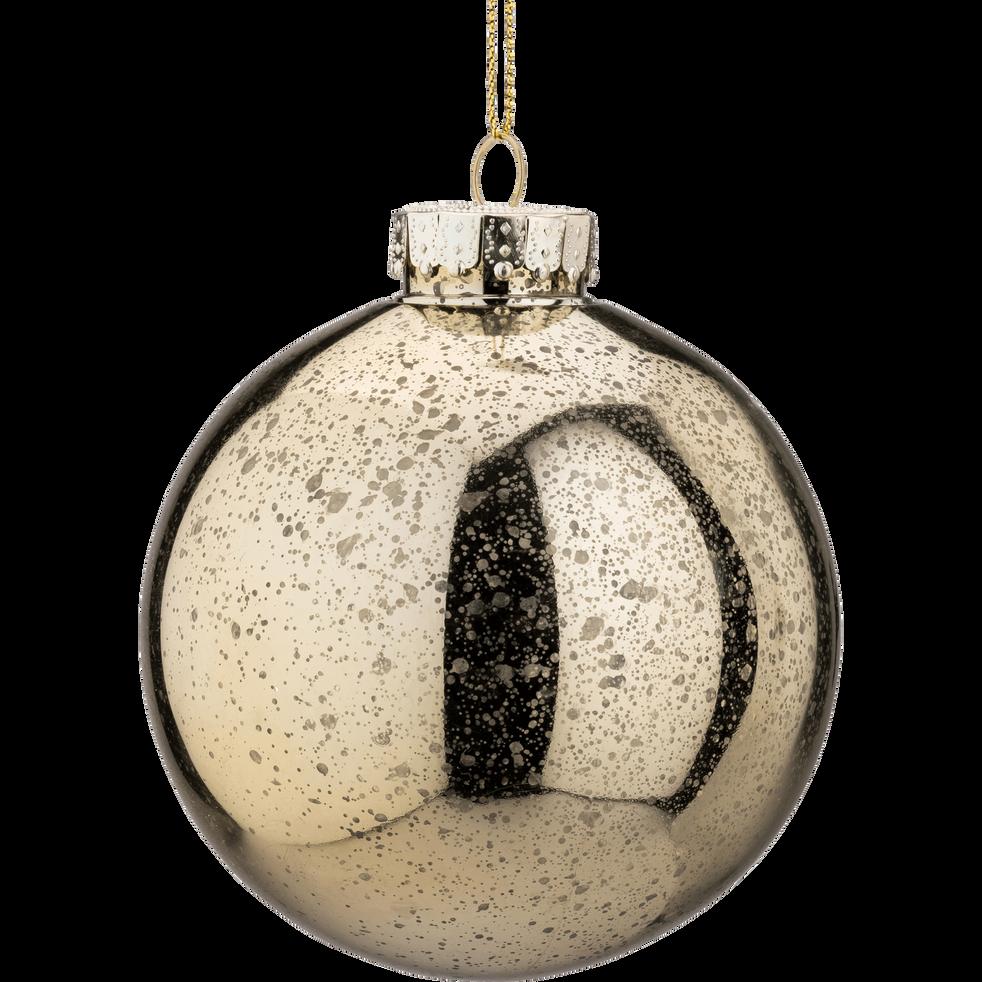 Boule de Noël en plastique doré D10cm-BLIDA