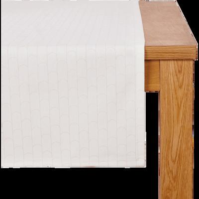 Chemin de table en coton à motifs 45x145cm-PETER