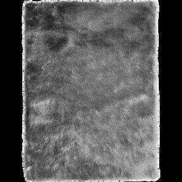 Tapis shaggy 60x110cm gris foncé-Toudou