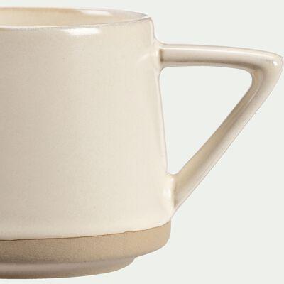 Mug en grès - blanc - 30cl-ESQUIROU