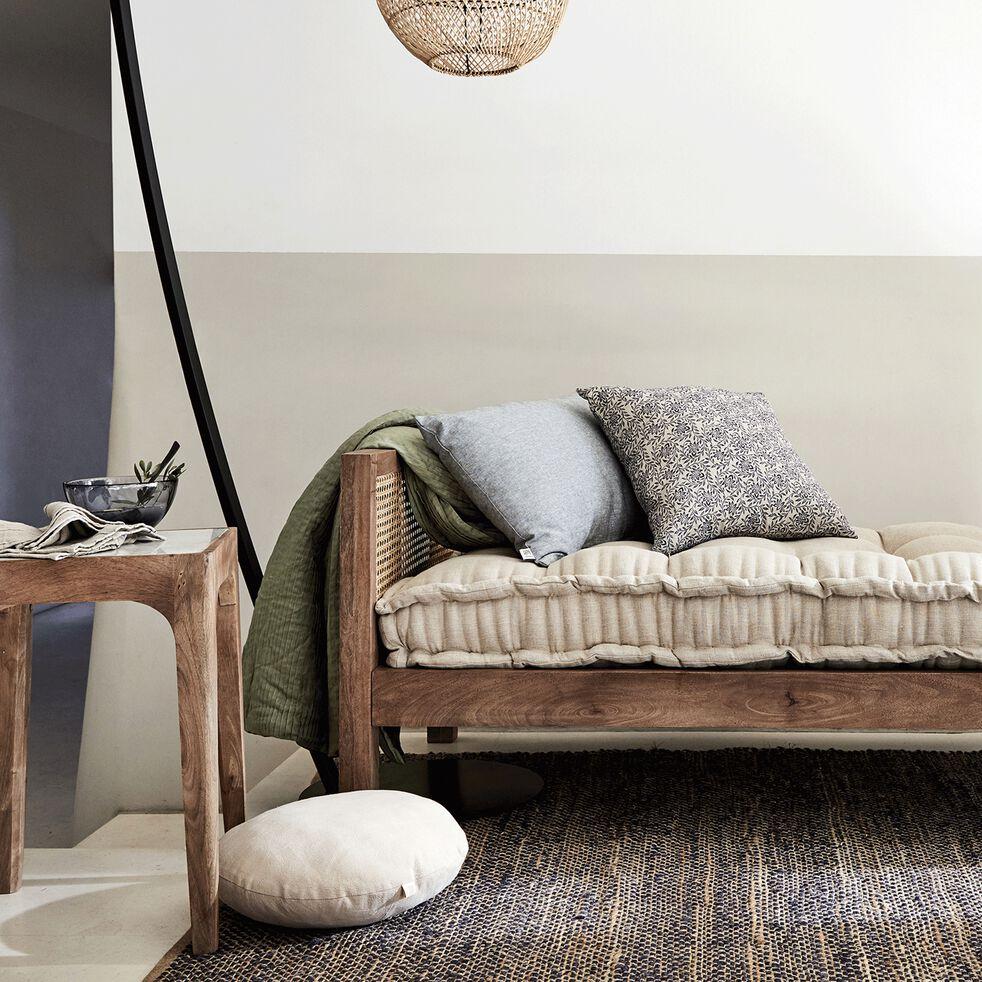 Bout de canapé carré en manguier et marbre - MÉJEAN - bout ...