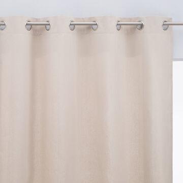 Rideau à œillets en coton - beige alpilles 140x250cm-CALANQUES