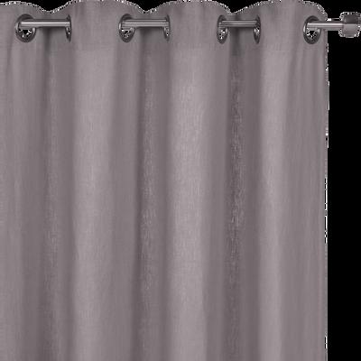 Rideau à oeillets en lin lavé gris restanque 140x360cm-VENCE