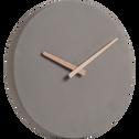 Horloge en ciment taupe D27cm-Cemento