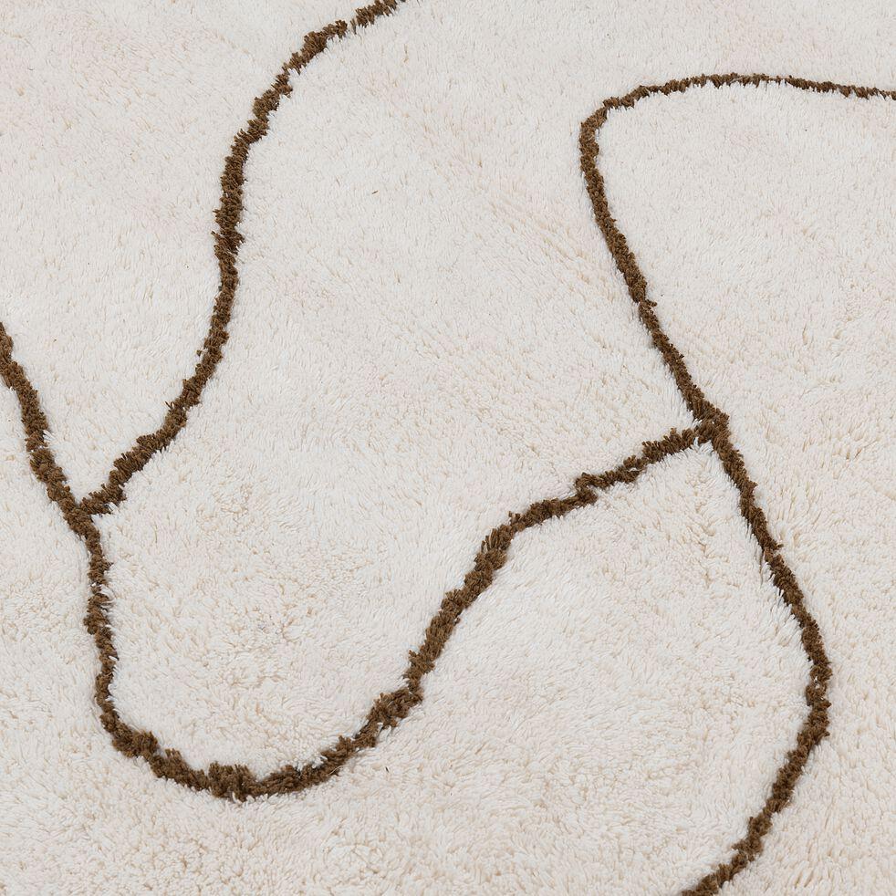 Tapis en coton - blanc 160x230cm-EN CHEMIN