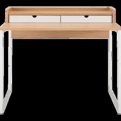 Bureau console plaqué chêne-RIVANI