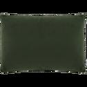 Housse de coussin effet doux vert cèdre 40x60cm-ROBIN