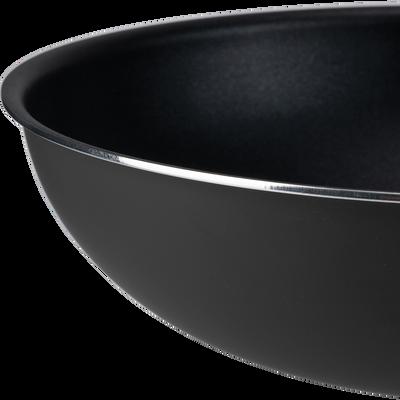 Wok en aluminium noir D28cm-SOU