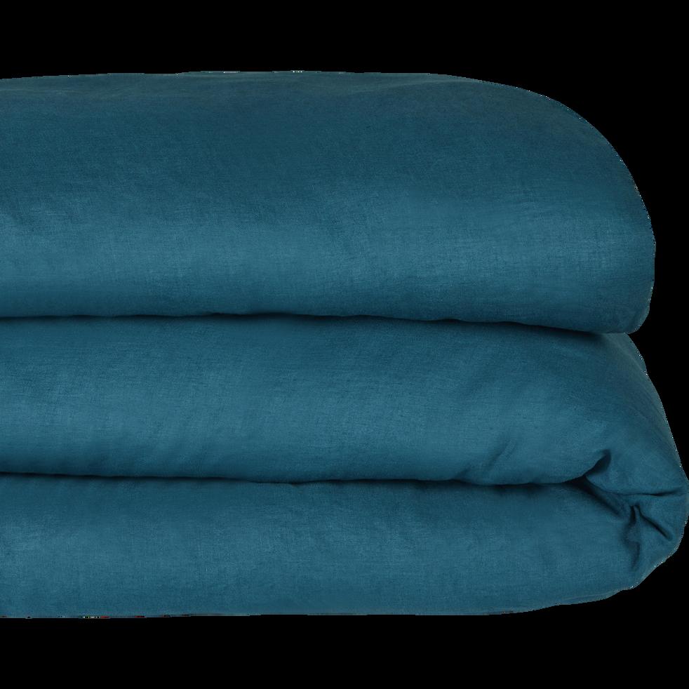 Housse de couette en lin Bleu figuerolles-VENCE