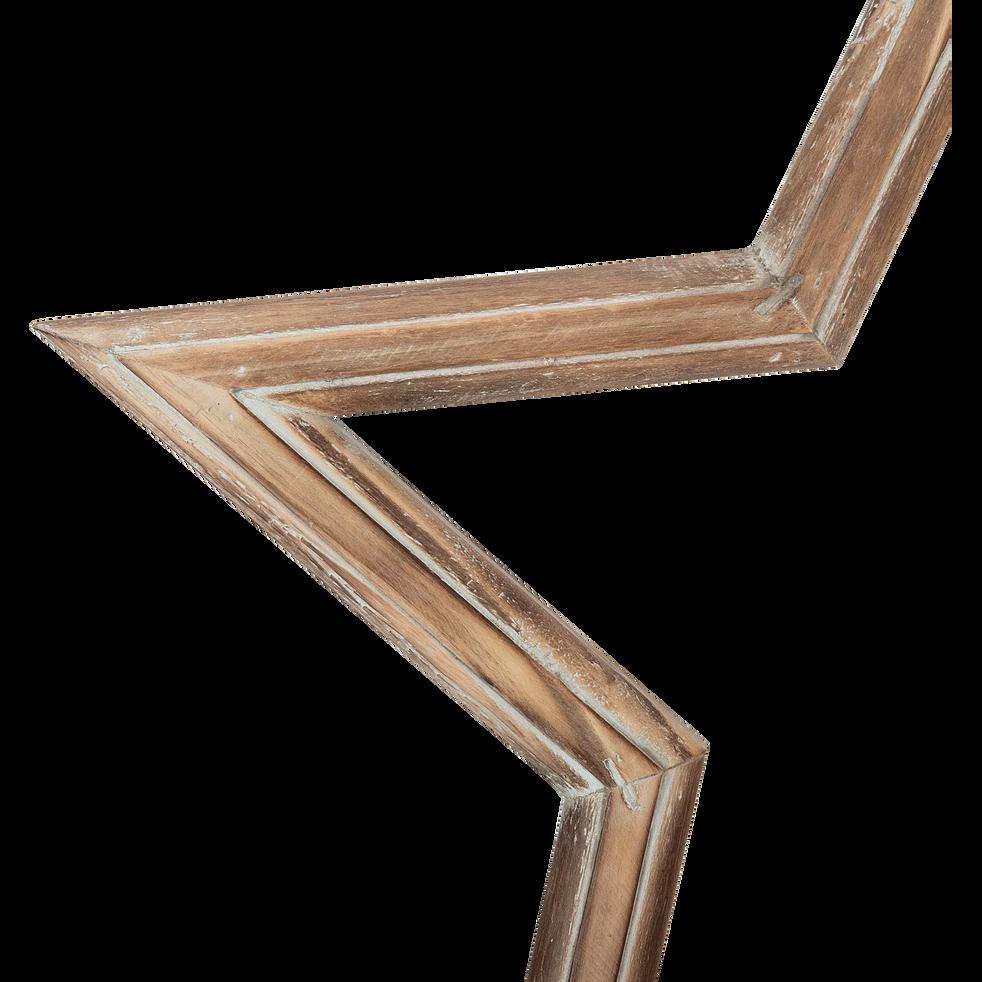 Etoile marron en bois de sapin H39,5cm-TULLE