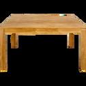 Table de repas carrée en teck recyclé - 8 places-EMOTION