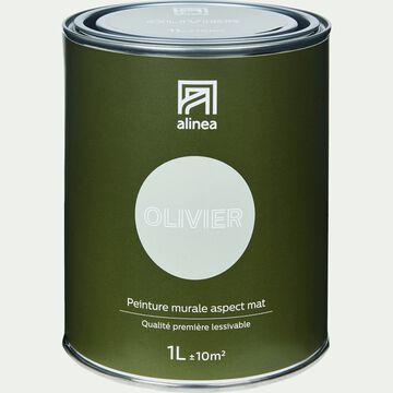 Peinture acrylique mate multi-supports - vert olivier 1L-PEINTURE