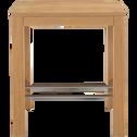 Table de repas haute carrée - 80x80cm-Bonnie