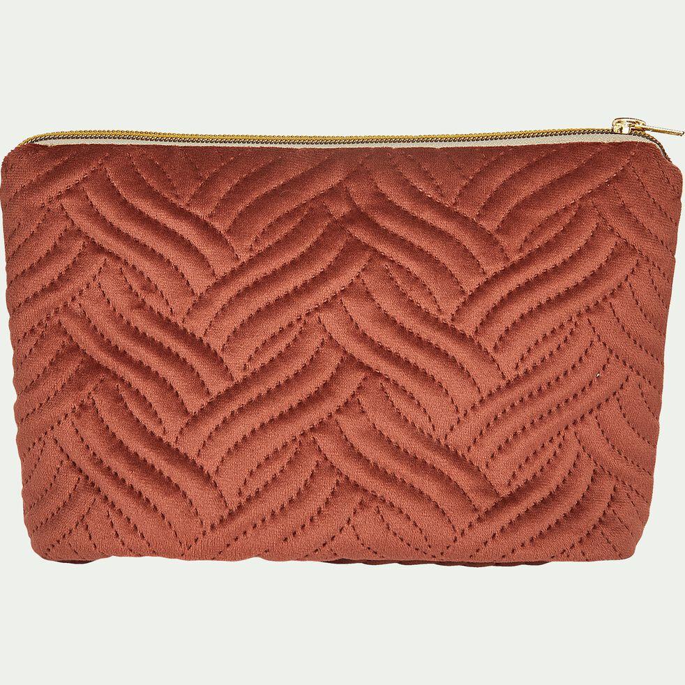 Pochette en coton - marron 16x28cm-AMBRINE