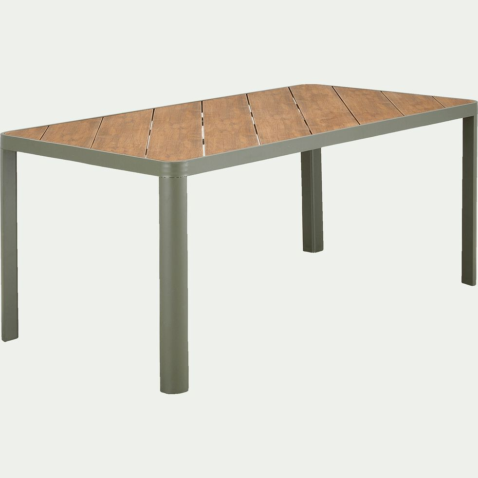 Ensemble table (4 à 6 places) et chaise de jardin en aluminium-ALEP