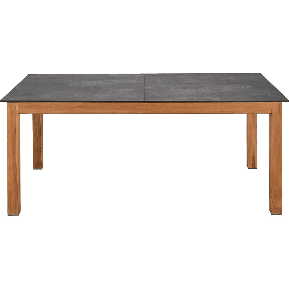 Table Extensible En Céramique - Gris Anthracite L180-240x95cm