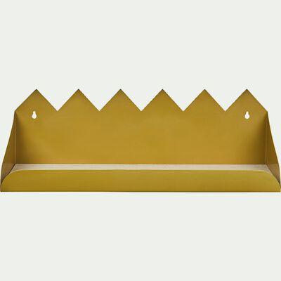 Étagère murale forme pics - jaune l50cm-Maëlis