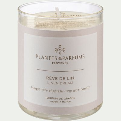 Bougie parfumée Rêve de Lin 180g-MANON