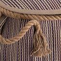 Panier en jonc de mer et jute - naturel et violet H46xD40cm-Raphaël