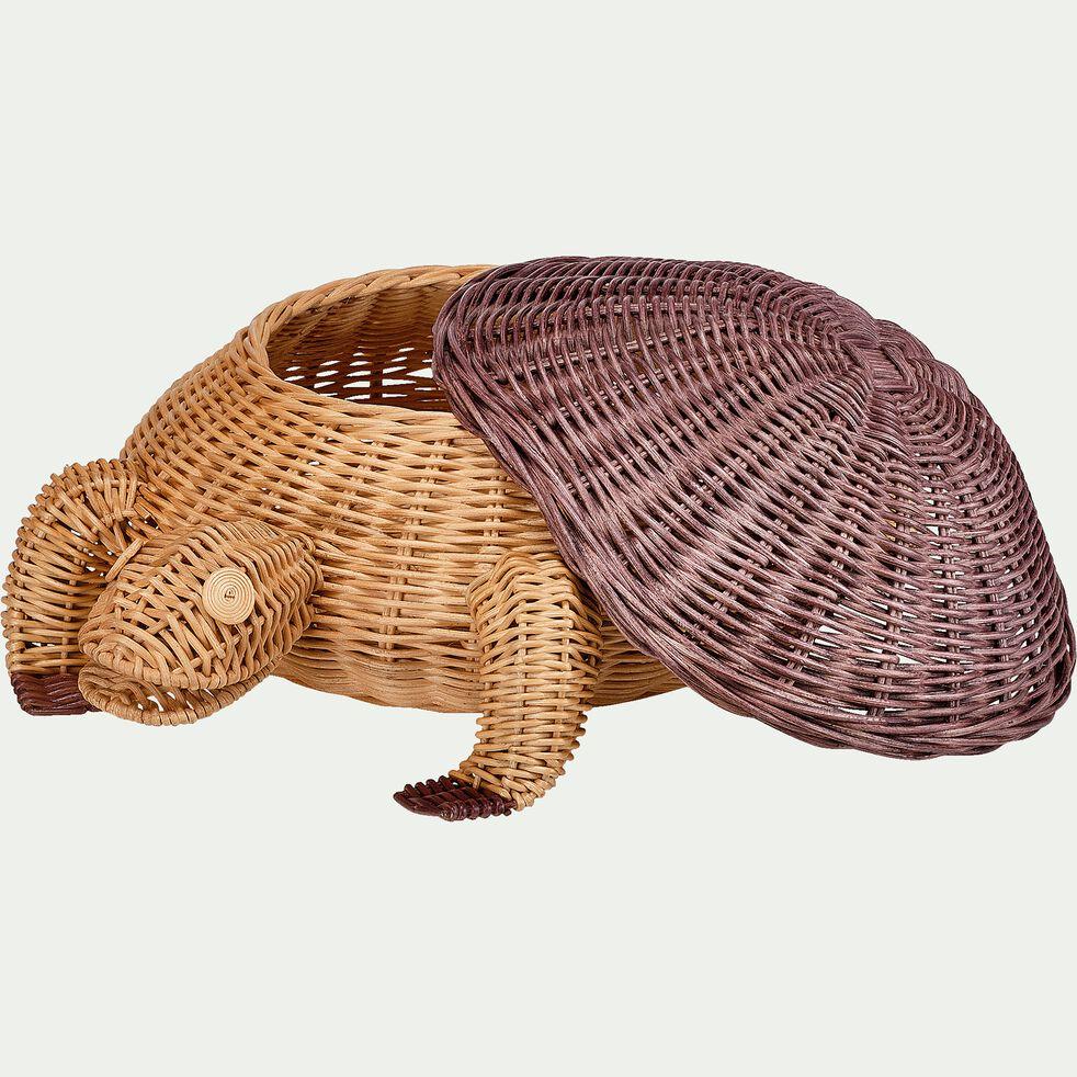 Panier tortue tressée en rotin L66xl50xH28,5cm-Soù