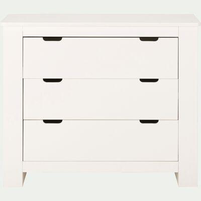 Commode 3 tiroirs en bois chambre enfant - blanc-POLLUX