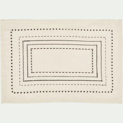 Set de table en coton blanc et noir 36x48cm-MEDINE