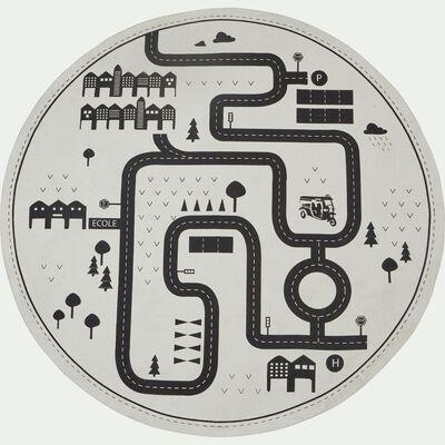Tapis rond pour enfant D120cm motif circuit-CAMOIN