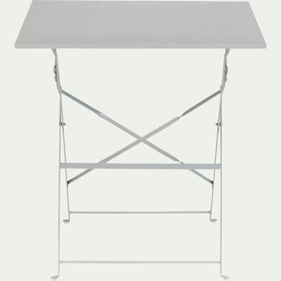 Table de jardin carrée pliante - gris (2 places)-CERVIONE