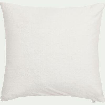 Housse de coussin effet polaire- blanc ventoux 65x65cm-ROBIN