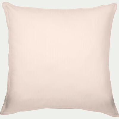 Lot de 2 taies d'oreiller en satin de coton - rose grège 65x65cm-SANTIS