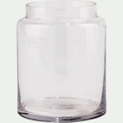Vase en verre épais - transparent H15cm-AJJA