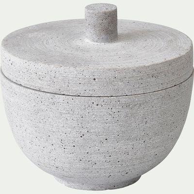Boite imitation béton - D12x11,5cm gris-CALCIS