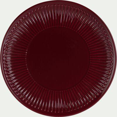 Assiette à dessert en faïence D20,5cm - rouge sumac-MORA