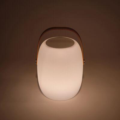 Lampe et enceinte nomade extérieur -  blanc D21xH32cm-FLUVI