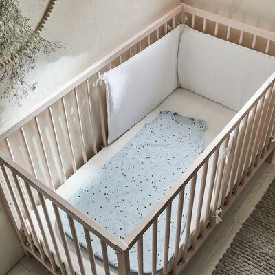 Lit pour bébé en hêtre massif Rose grège - 60x120 cm-CAMILLE