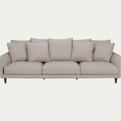 Canapé 5 places fixe en tissu - gris borie-LENITA